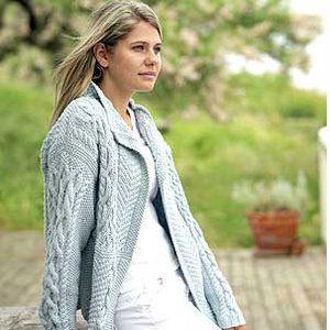 2878e369b Knit a patchwork Aran jacket    free knitting pattern