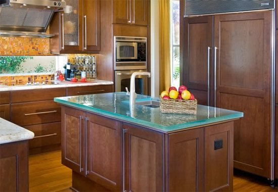 Kitchen Counter Top Designs Another Glass Countertop That Adds Edge To A Kitchen And Seems