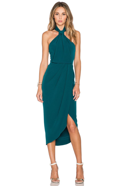 Shona Joy The Pass Knot Draped Dress in Peacock | REVOLVE | .dresses ...