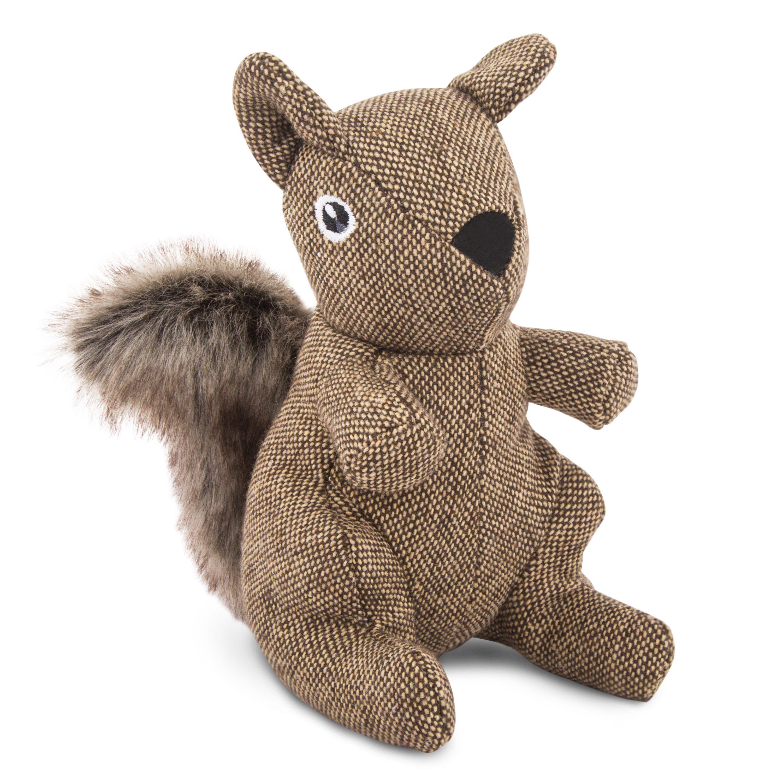 Tweed Squirrel Plush Dog Toy Plush Dog Best Dog Toys Plush Dog