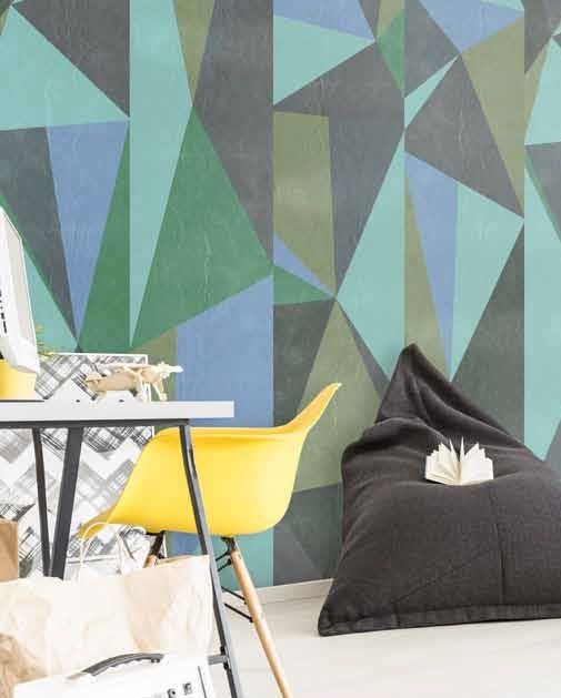 """Get amazed! We proudly present turquoise seamless MAGMA wallpaper """"Gray triangles"""""""