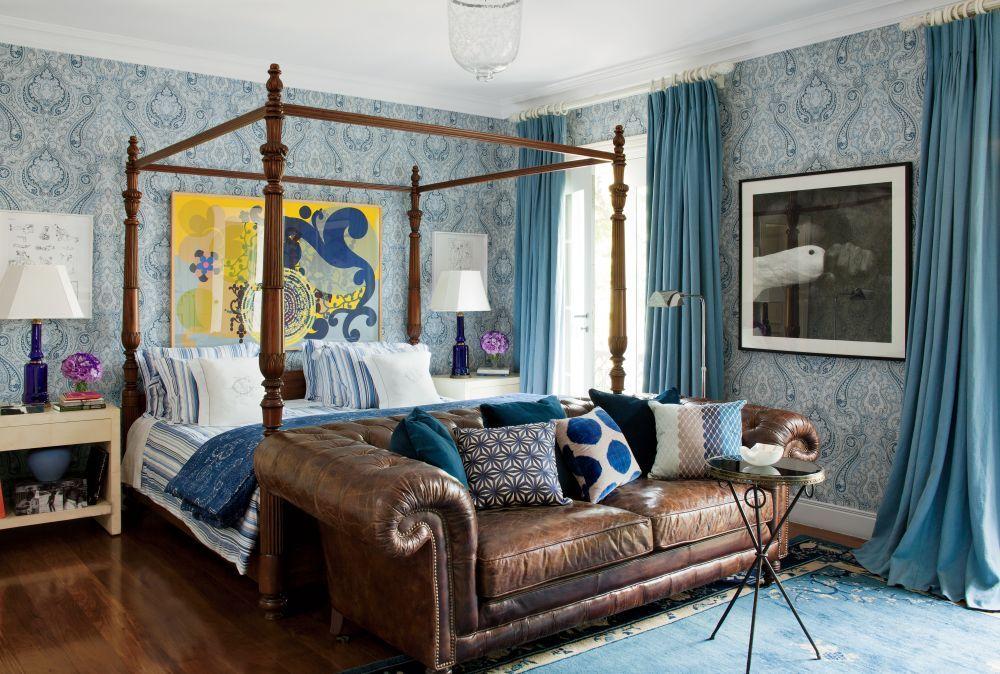 #Schlafzimmer 2018 21 Schöne Sammlung Von Bunten Blauen Schlafzimmer  Interieur #schlafzimmer #Dekoration