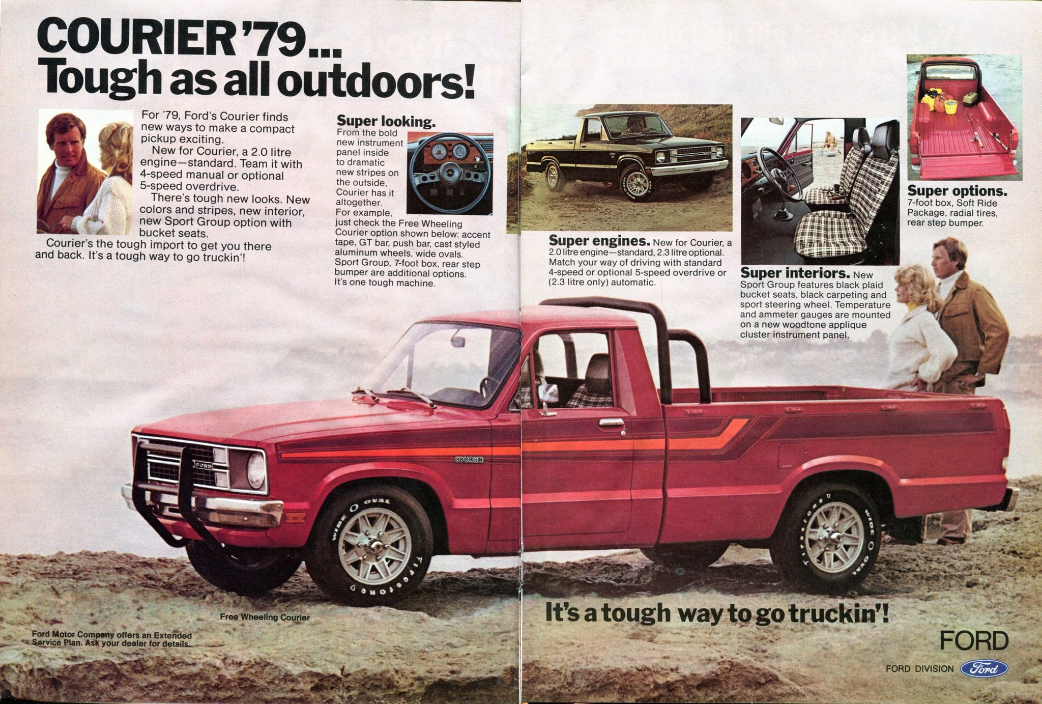 1979 Ford Courier Pickup Truck Advertisement Hot Rod December 1978 Ford Courier Trucks Ford
