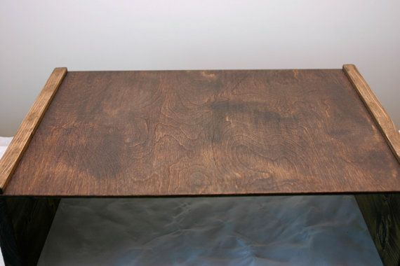 Laptop Table Tablet Table Wood Tray Writing Table by G360design