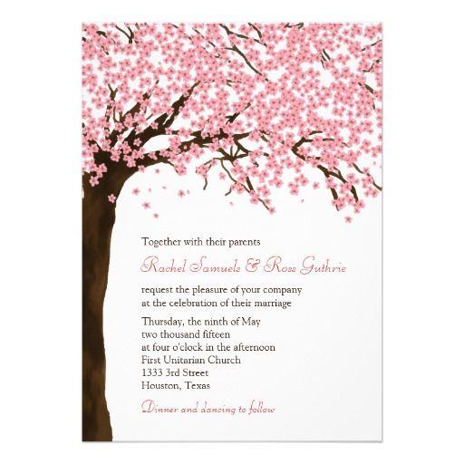 Cherry Blossoms Sakura Watercolor Wedding Invitation Zazzle Com In 2021 Watercolor Wedding Invitations Wedding Invitations Watercolor Wedding