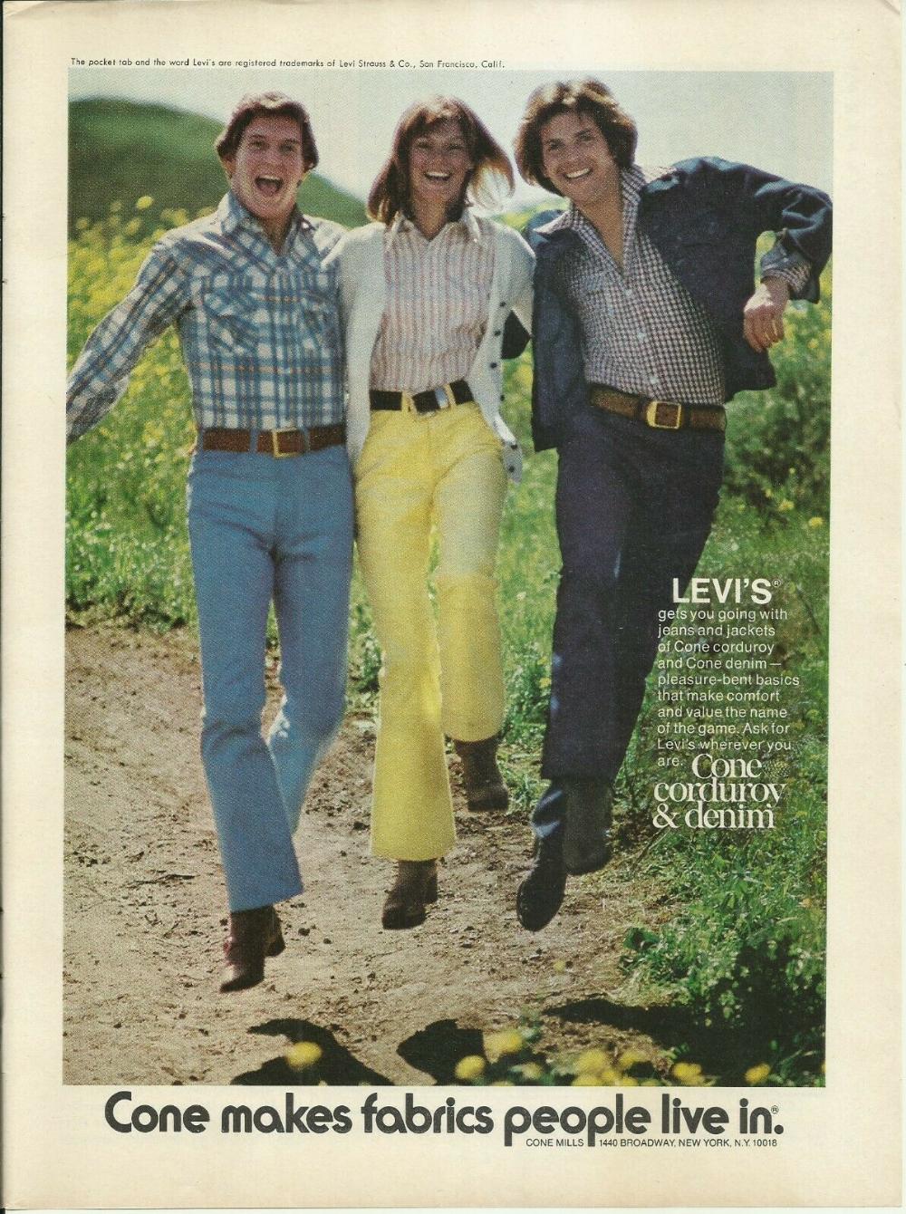 Details about 1974 Levi's Cone Corduroy & Denim Je