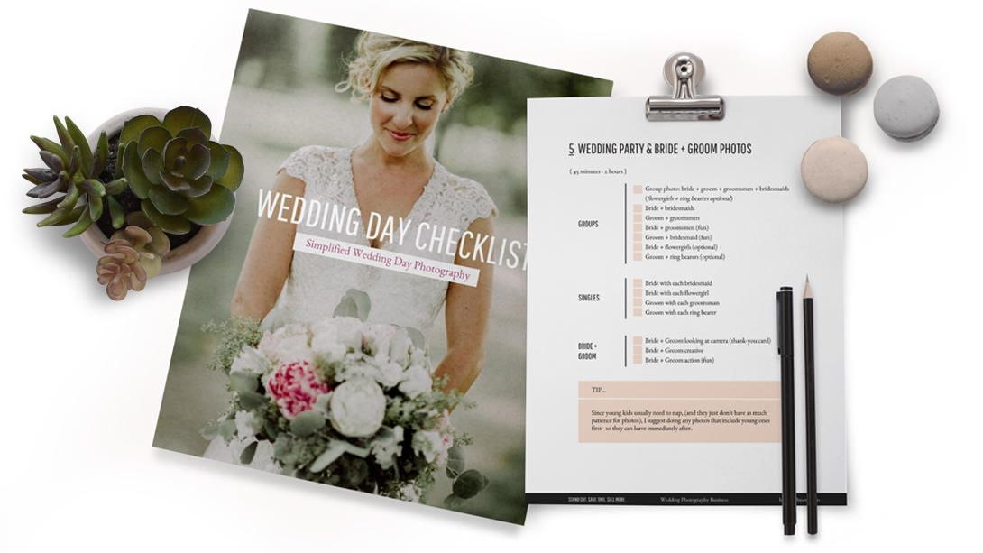 Free: Wedding Day Photography Checklist | Photography