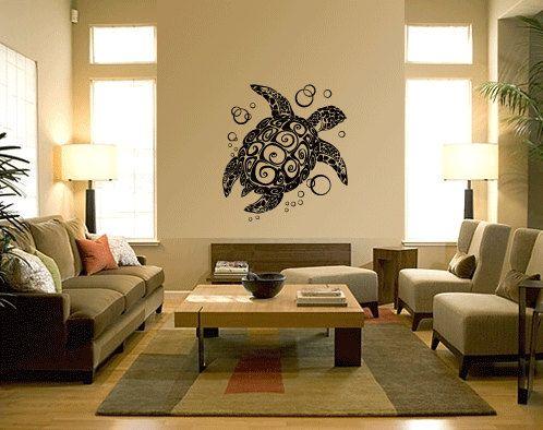 Sea Turtle Vinyl Wall Art Decals | Wall art decal, Vinyl wall art ...