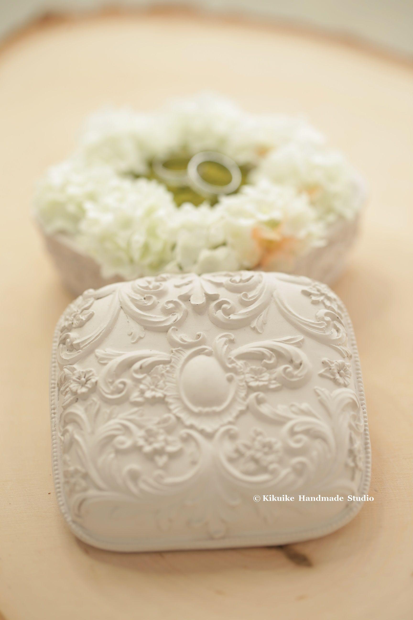flower ring box wedding Ring Box clay ring box Ring Holder
