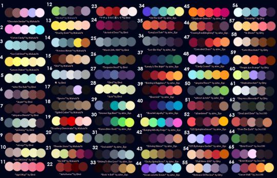 Color Palette Challenge Tumblr Phối Mau Color Palette
