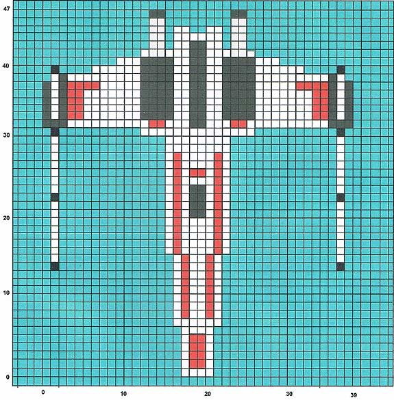 Star Wars X Wing Perler Bead Pattern Pixel Art Star Wars