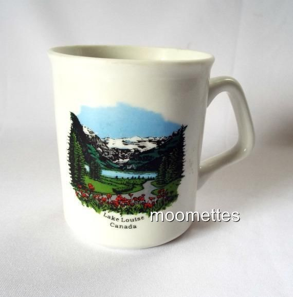 Canada Lake Louise Coffee Mug Scenic Snow Mountains Trees Flowers Tea Cup 10 Oz Lakesnowmountainstreesflowers Flower Tea Mugs Tea Cups