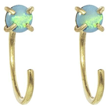 7a36935d948 Melissa Joy Manning Opal Hug Earrings - Yellow Gold | Products ...