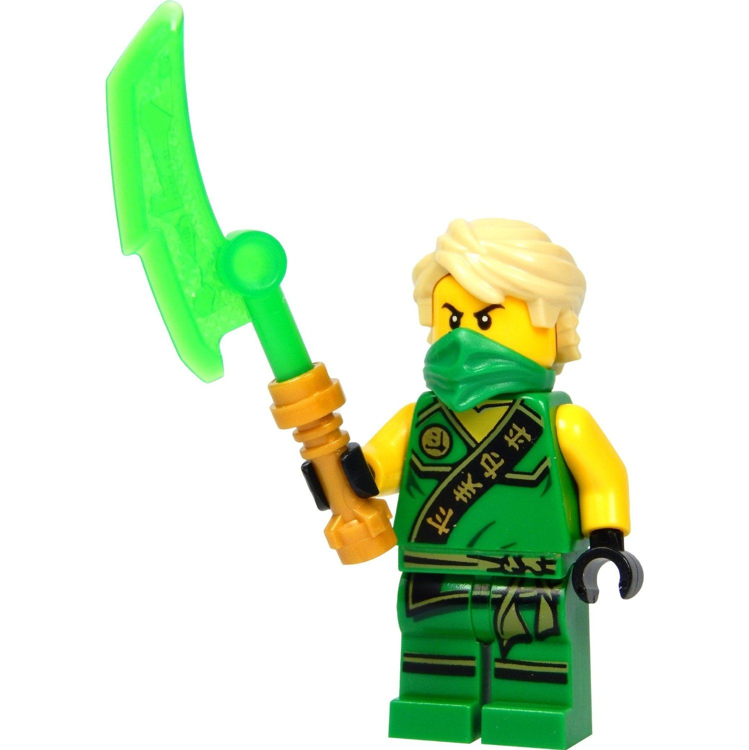lego ninjago minifigur lloyd garmadon gr ner ninja mit jadeschwert 2015 neuheit. Black Bedroom Furniture Sets. Home Design Ideas