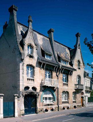 Emile Andre Nancy 1903 Art Nouveau Architecture Lorraine Thionville