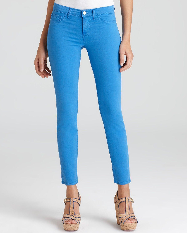 NWT J Brand Luxe Twill 811 Mid-Rise Skinny Leg jeans in Blue Bonnet