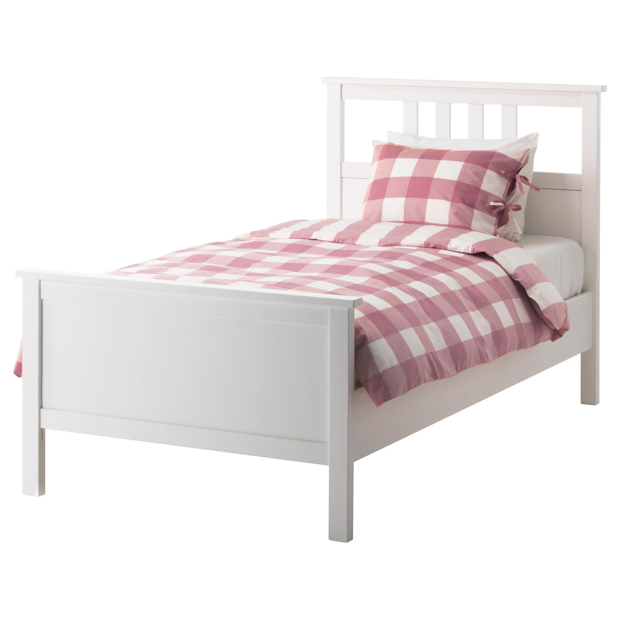 Hemnes Bed Frame White Stain Lonset Twin Ikea In 2020 White