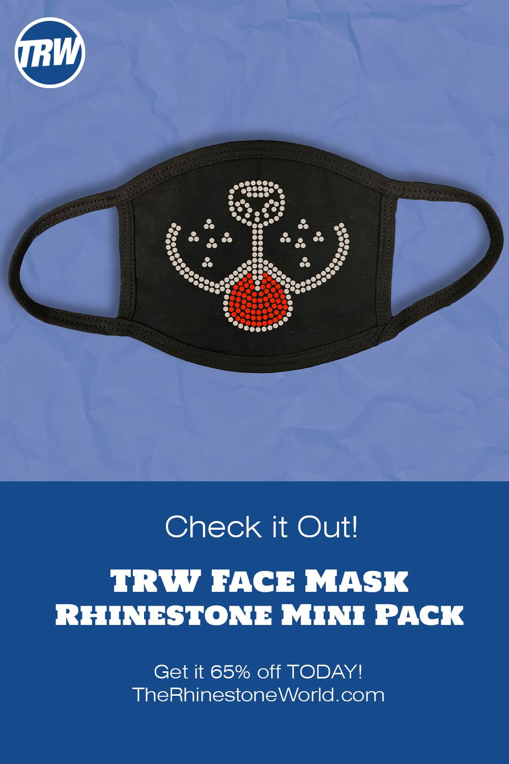 TRW Face Mask Rhinestone Mini Pack 1 VAPK