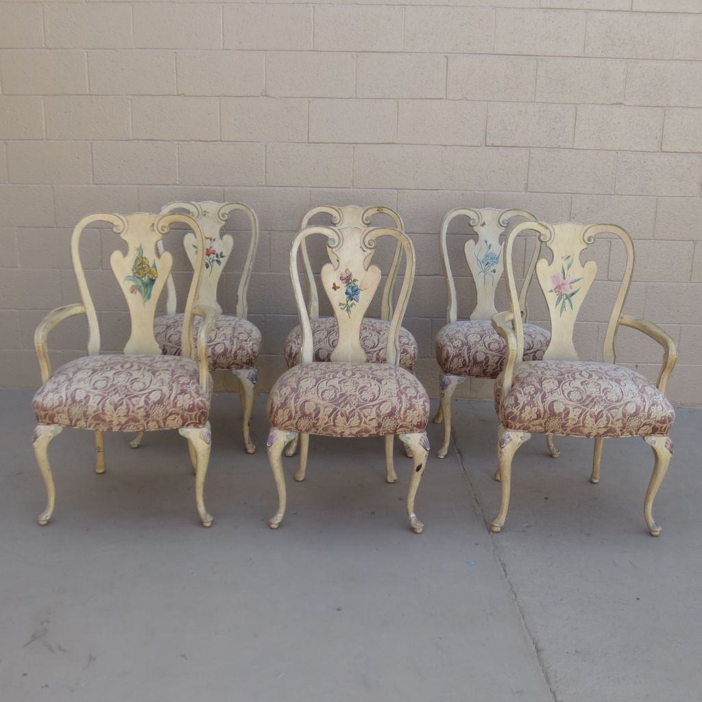 French Antique Dining Chairs Shabby Chic Chairs Antique Furniture  @rubylanecom #ShabbyChic #rubylane - French Antique Dining Chairs Shabby Chic Chairs Antique Furniture
