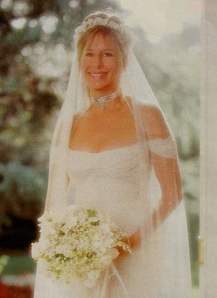 Barbra Streisand On Her Wedding Day To James Brolin In 1998