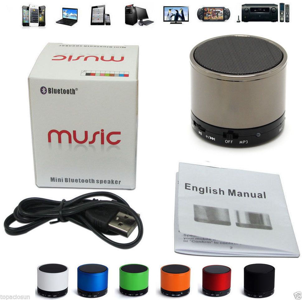 Altavoz Bluetooth ALUMINIO Manos Libres USB TF SD Reproductor mp3 mp4 Movil PC