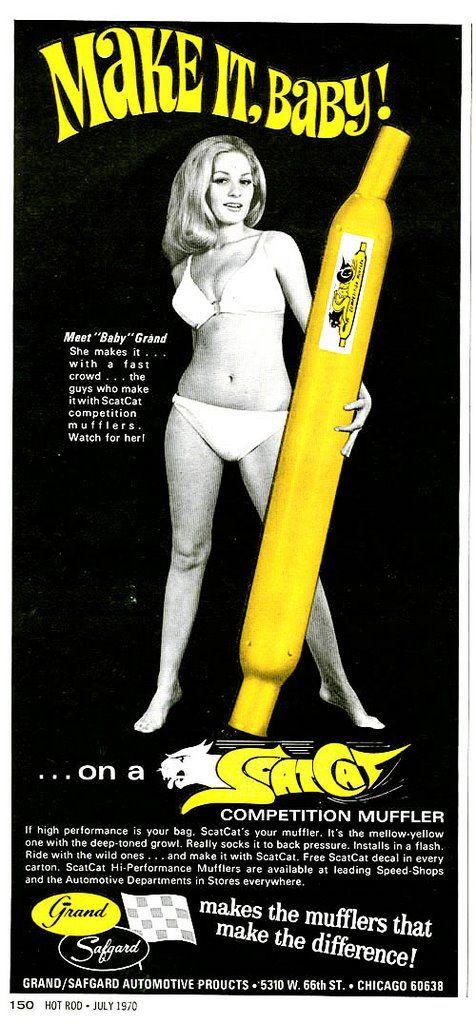 Muffler Ad | Innuendo Puns more | Retro ads, Advertising