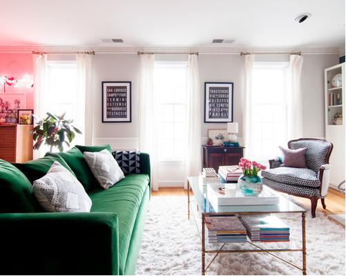 kerra michele huertas rental apartment living room fireplace