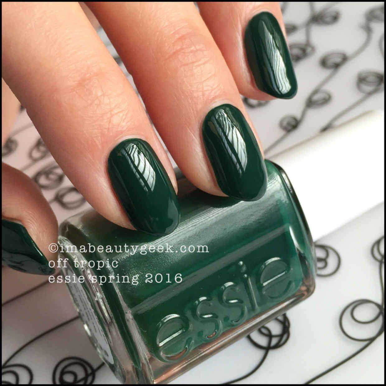 essie off tropic – essie spring 2016 - green nail polish | Nails ...