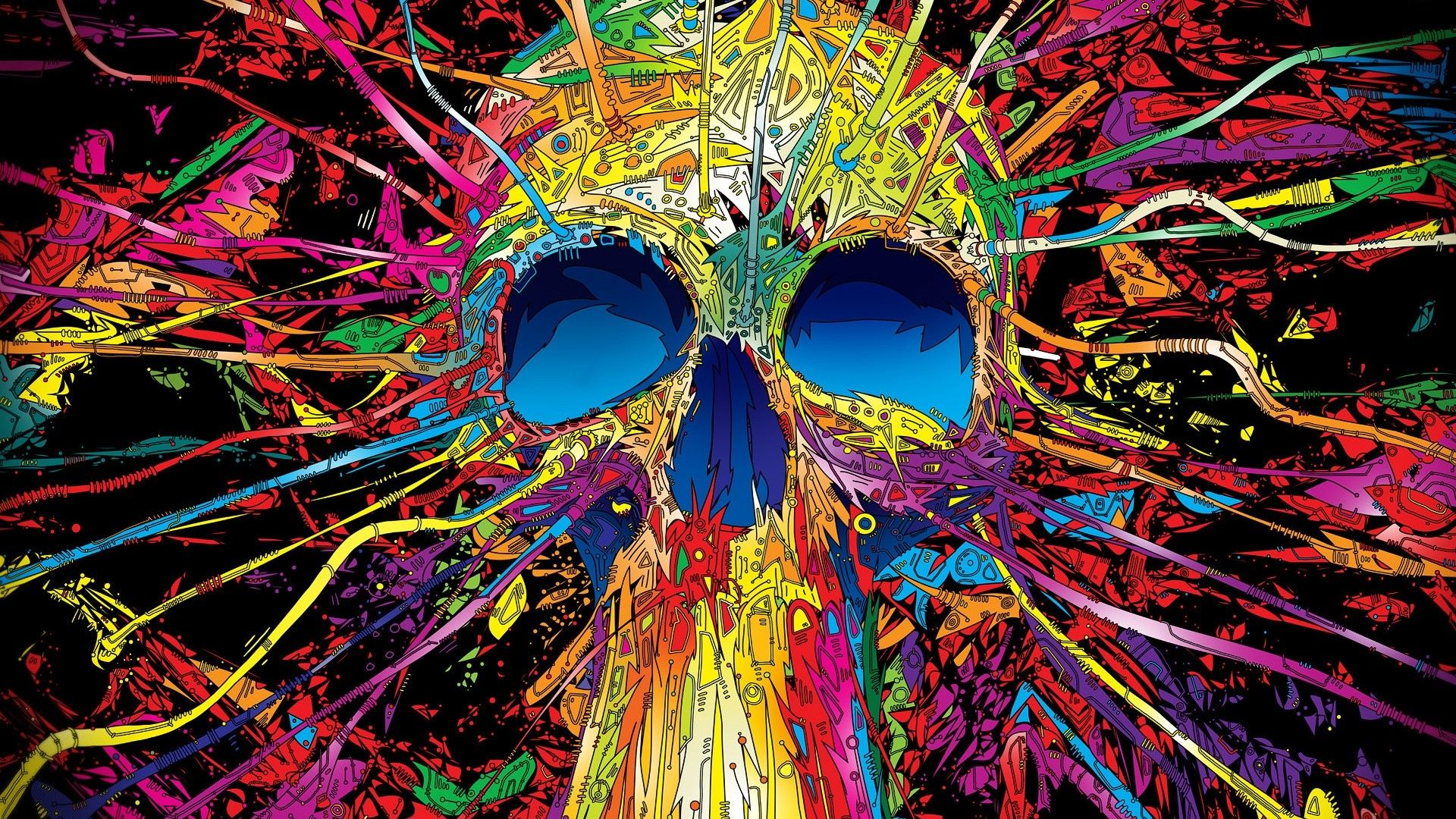 Art Desktop Backgrounds | deskbg.com | arts | Skull art, Skull wallpaper, Psychedelic Art