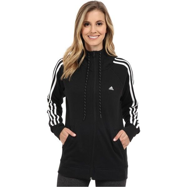 adidas originals black zip hoodie women's