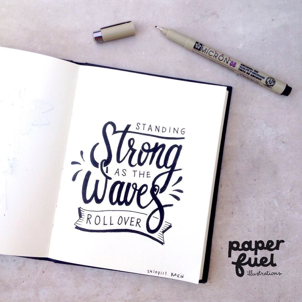 'What will we do when we get old? Will you be there by my side? Standing strong as the waves roll over' Beautiful song by @majorlazer #handlettering #lettering #paperfuel