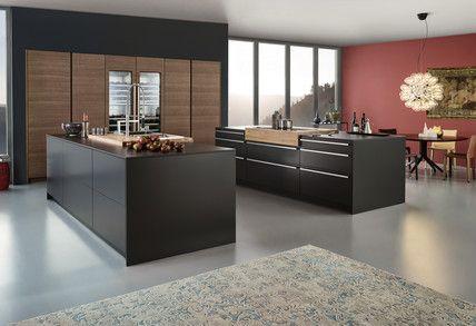 SYNTHIA IOS LARGO-LG u203a Schichtstoff u203a Modern Style u203a Küchen - matt schwarze kchen