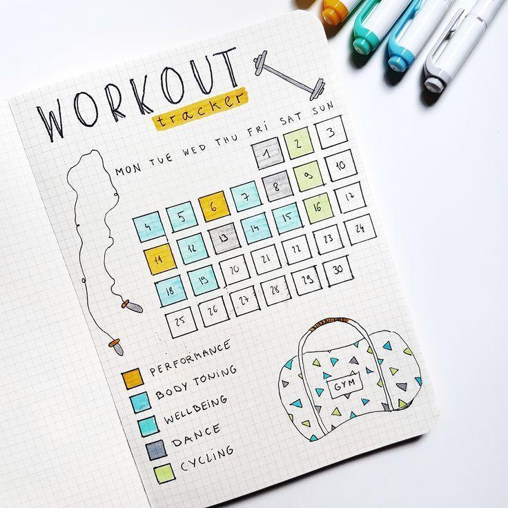 #workouttracker #bulletjournal #anjahome #selfcare #together #journal #tracker #workout #fitness #bu...