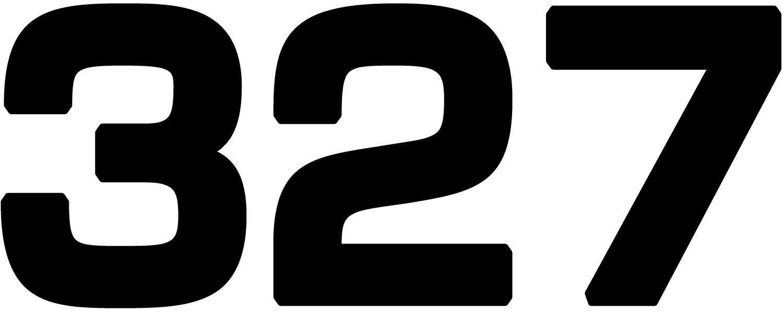 General Motors Chevrolet Chevy 327 Engine Size Vinyl Decal