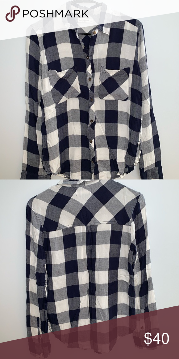 b100e192 Boyfriend Button Down Shirt Blue and white flowy button down boyfriend shirt.  Loose and comfortable, perfect for spring or fall wardrobe!