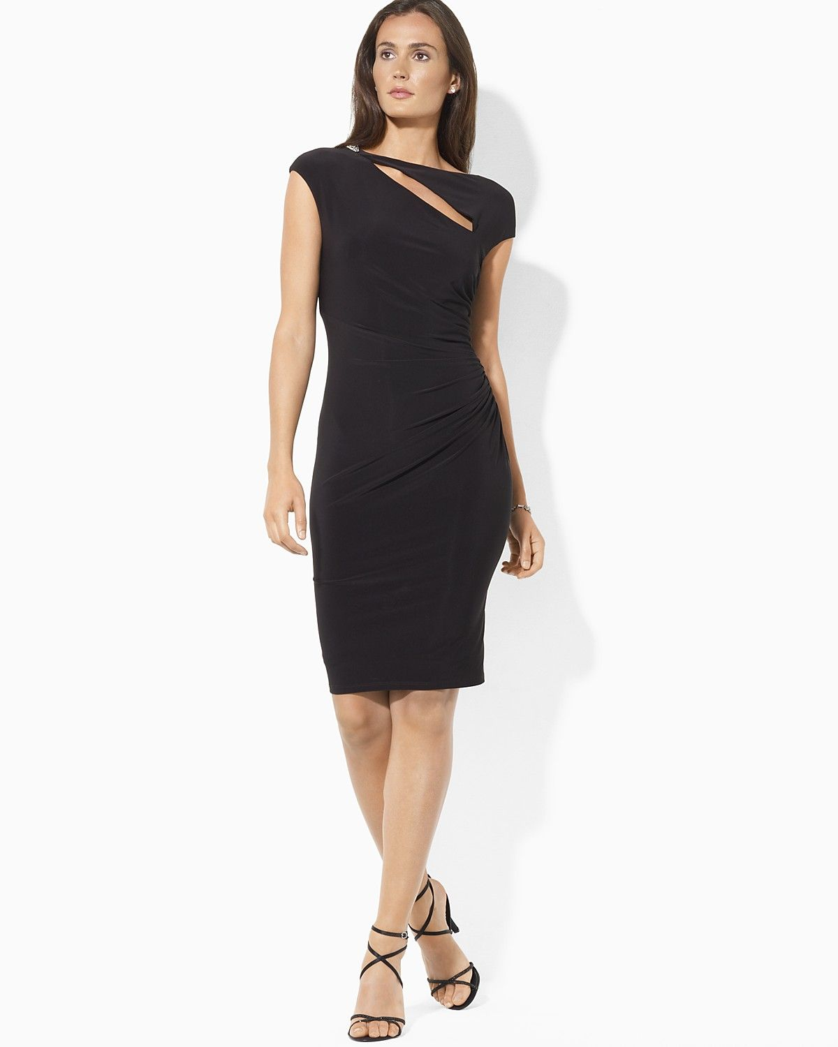 Em Wedding: Lauren Ralph Lauren Cap Sleeve Cut Out Dress | Bloomingdale\u0027s