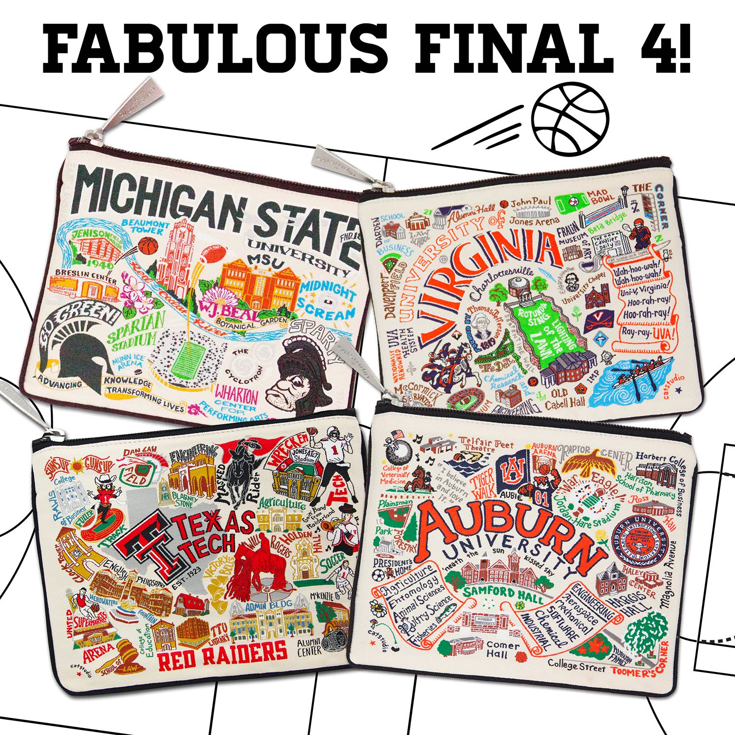 It's the 🏀FINAL FOUR! 🏀Who are you cheering for? 🎉 (With