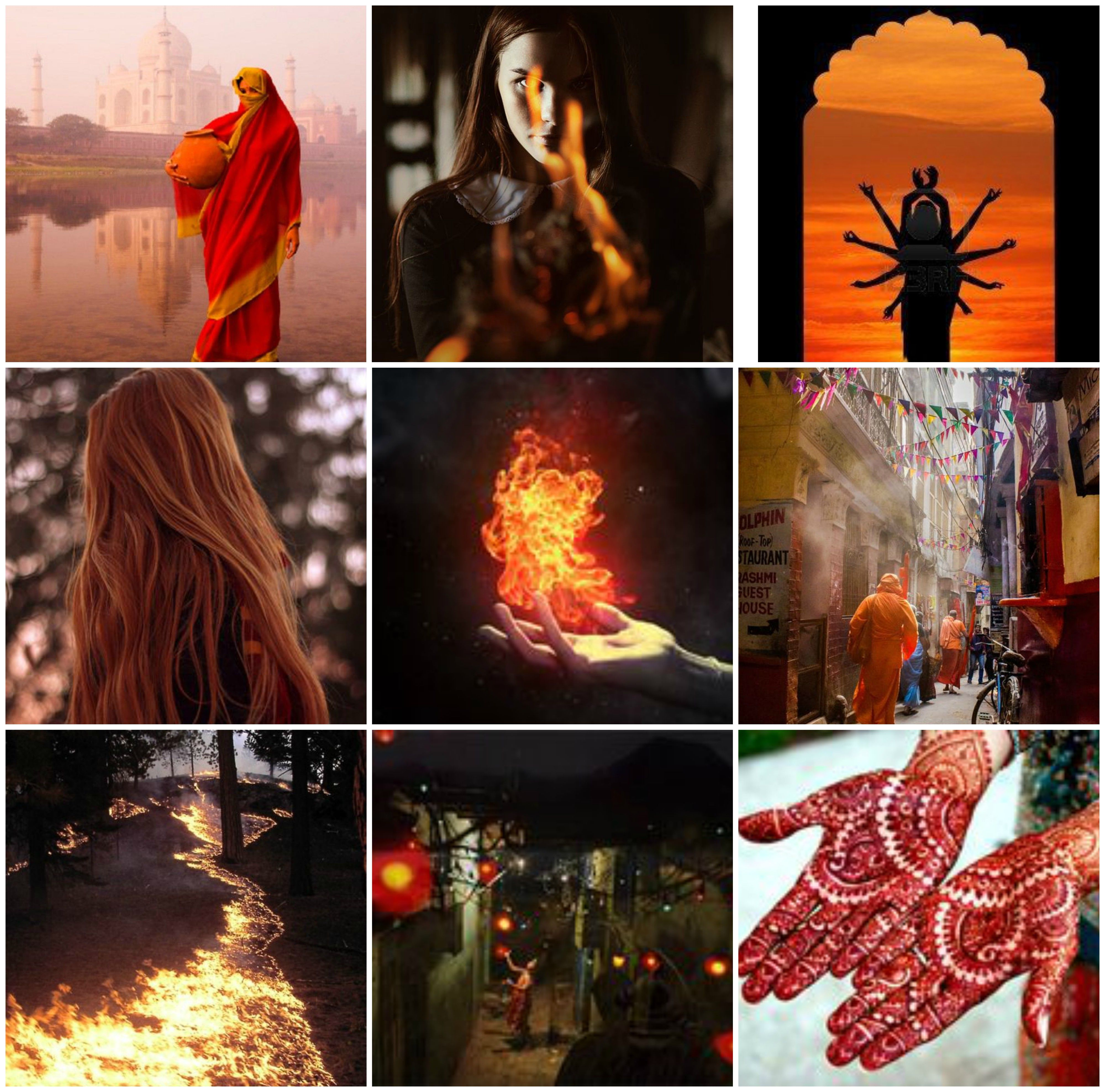Indian fire witch // moodboard