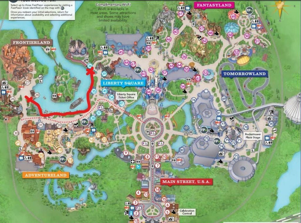Map Of Florida Disney World Secret Shortcuts at the Disney World Parks   Mickey Chatter
