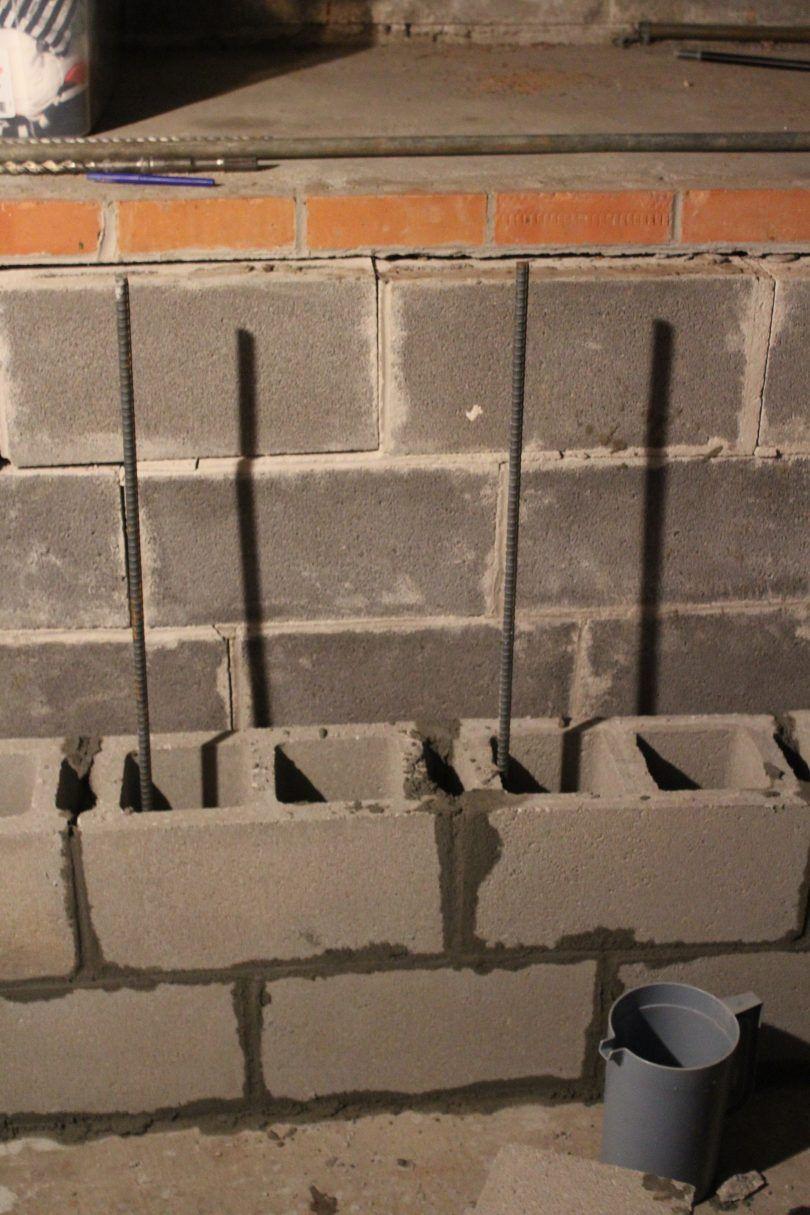 Block Wall Foundation Repair In 2020 Foundation Repair Concrete Block Walls Concrete Block Foundation