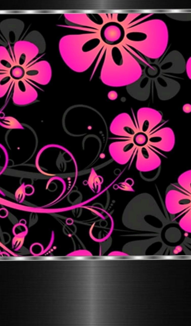 Black And Pink Flowers Amazing Nature Pinterest Wallpaper And
