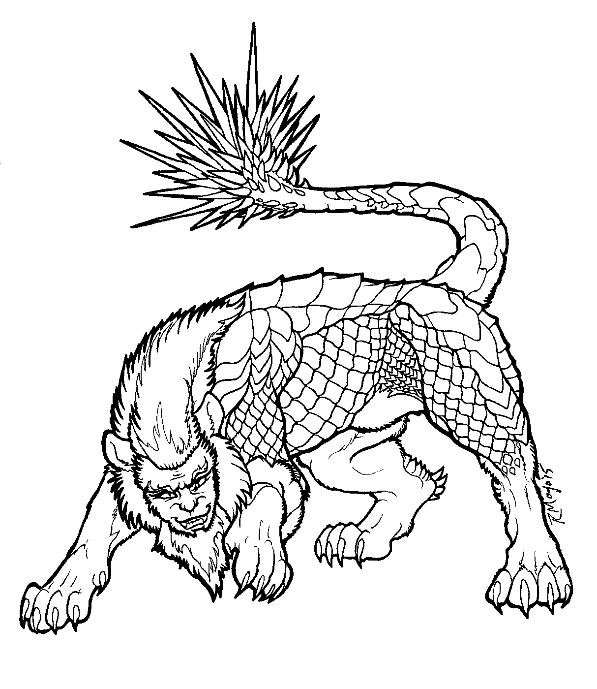 Manticore Avatar World Cryptozoology [ 1400 x 1214 Pixel ]