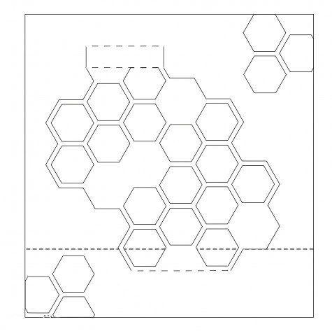 Схема киригами яблоко