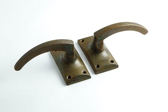 フレンチアンティーク 真鍮のドアノブ レバー形 店舗 住宅ドアなどに 複数在庫あり Bb154 アンティーク フレンチ アンティーク ドアノブ レバー ノブ