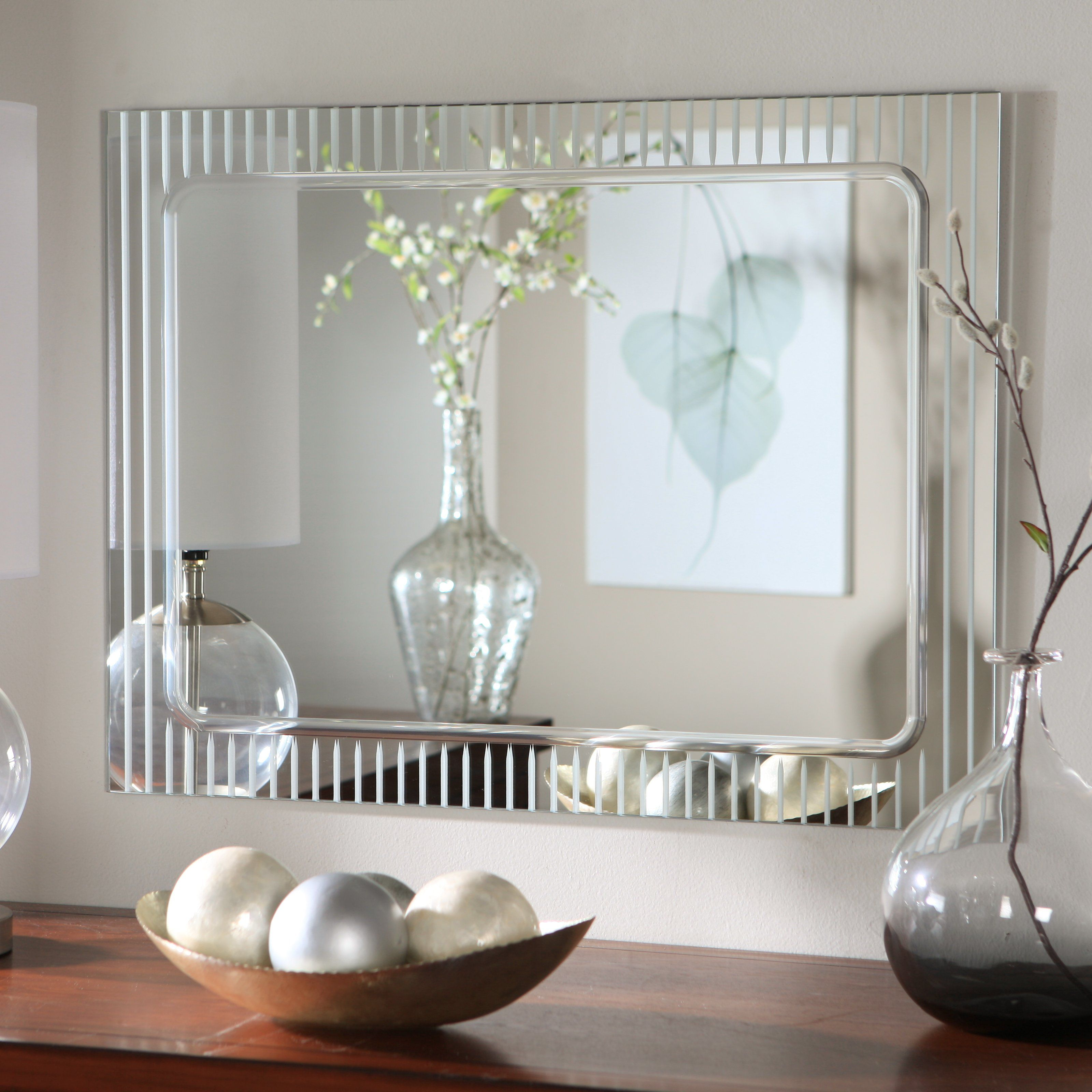 Have to have it. Frameless Deco Wall Mirror - 23.5W x 31.5H in ...