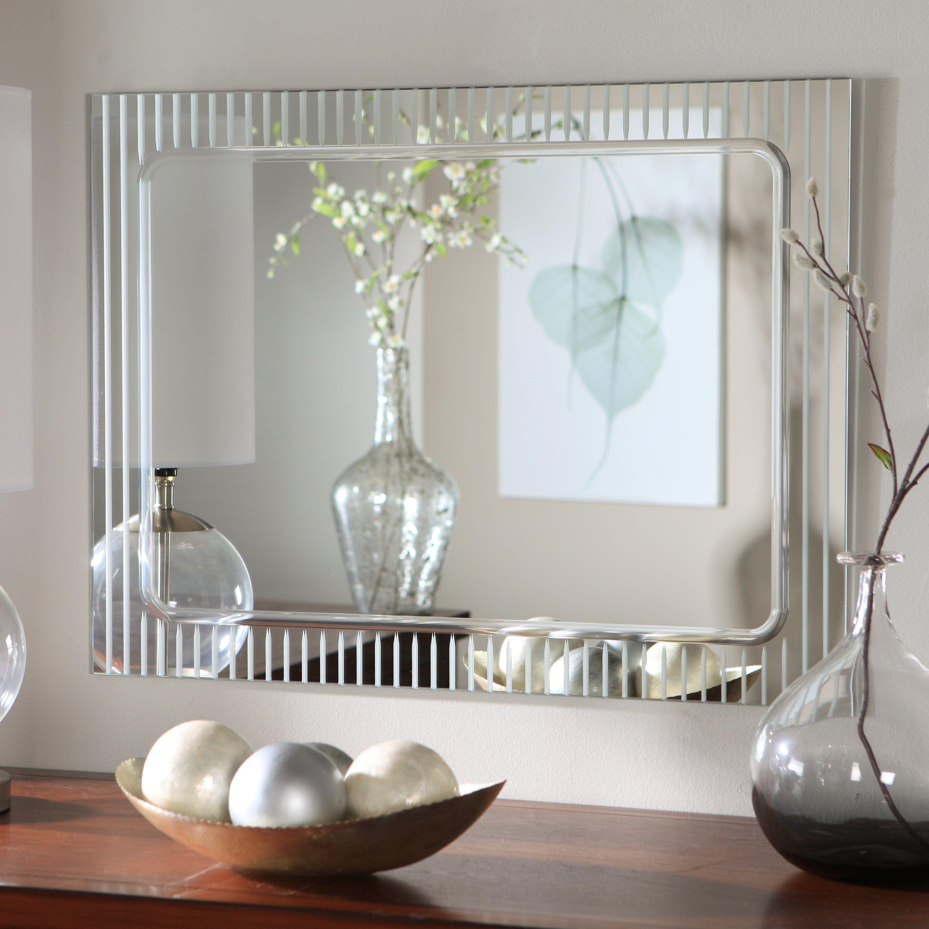 Wonderful Decor Wonderland Frameless Deco Wall Mirror   X In.