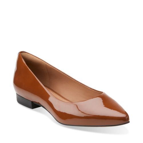 Corabeth Abby Cognac - Clarks Womens Shoes - Womens Heels and Flats - Clarks  - Clarks
