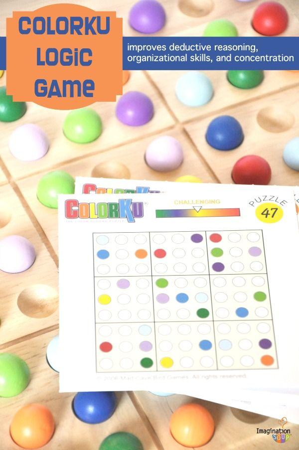 Educational Colorku Logic Game Logic Games For Kids Logic Games
