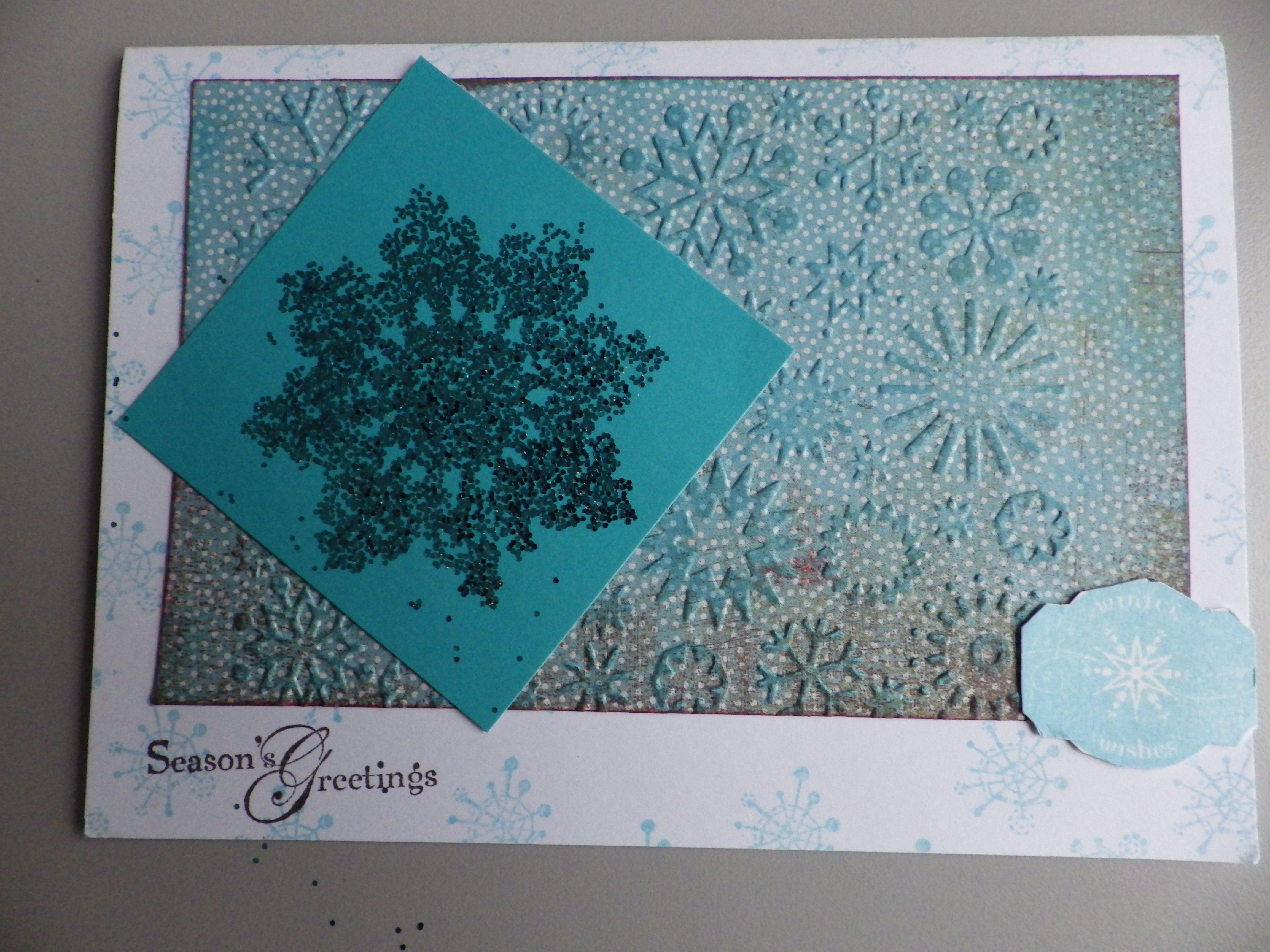 Snowflake Christmas card   My Christmas Cards   Pinterest ...