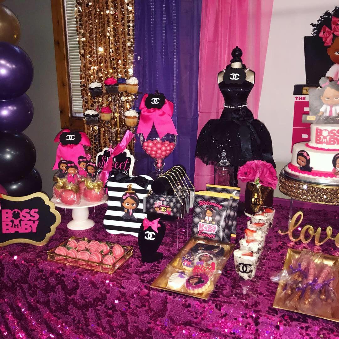 1127e61c42cb5 Girl Boss Baby Chanel inspired baby shower | Kia's Customs Parties ...